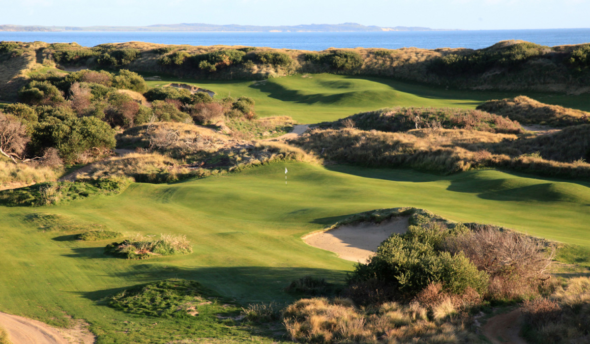 Course view of Lost Farm course at Barnbougle
