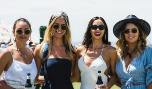 Polo at Barnbougle - ladies on the field