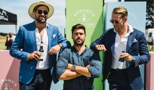 Polo at Barnbougle - gents on the field