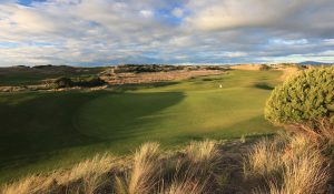 The Dunes golf course - green with beautiful clouds