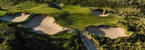 Aerial shot of the Dunes golf course